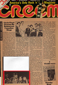 Laurie Paladino's photo of Bruce Springsteen and the E Street Band in CREEM Magazine July 1981 issue