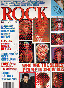 Photo of Adam Ant on the cover of ROCK Magazine.