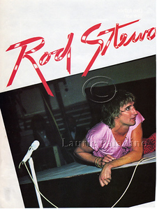 Laurie Paladino's photo of Rod Stewart in Music and Sound Output Magazine