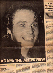 Adam Ant in New York Rocker photographed by Laurie Paladino