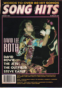 David Lee Roth of Van Halen on the cover of Song Hits Magazine. Photograph by Laurie Paladino