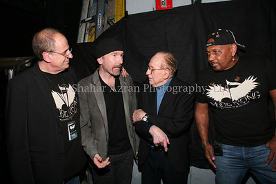 U2'sthe Edge, hosted the star-studded Icons of Music II Auction at Hard Rock Cafe New York to benefit Music Rising, a campaign founded in 2005 to support musicians, students and parishioners of the Gulf Coast Region affected by the hurricanes.  Music Rising has since aided over 2,700 professional musicians and nearly 50,000 students and parishioners and will soon launch Phase III of the campaign. The event conducted by world renowned Julien's Auctions (www.juliensauctions.com). The exclusive event included a performance by legendary musician Aaron Neville and a star-studded red carpet. Auction Network, the first 24/7, multimedia network solely dedicated to auctions, conducted a live webcast in real-time streaming video of The Icons of Music Auction II hosted by Lisa Loeb.
