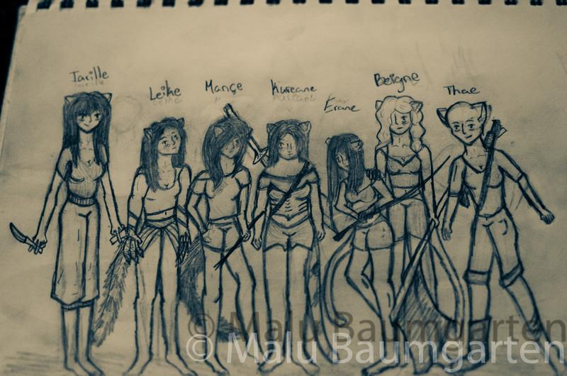 Elisabeth's crew of mutant girls. Elisabeth is 12 years old.