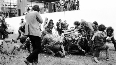 Hells Angels having some fun at the 1970 UK Bath Festival.  Limited Edition (only 500 will be allowed to be printed larger than 8x10)