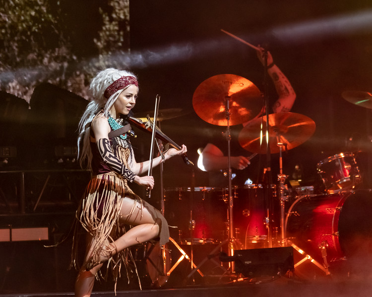 Lindsey Stirling at the TCU Amphitheater at White River State Park Indianapolis, IN August 11, 2021.