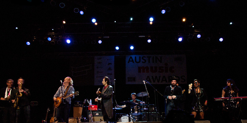 "Alejandro Escovedo, Dan Dyer and The Sensitive Boys<br /> Wednesday, March 14, 2012<br /> Austin Music Awards at Austin Music Hall<br /> SXSW Music Festival - 2012, Austin, Texas<br /> Photos by Sean Murphy ©2012.<br /> Please do not use without permission.<br /> You can find more Alejandro at: <a href=""http://alejandroescovedo.com/"">http://alejandroescovedo.com/</a>"