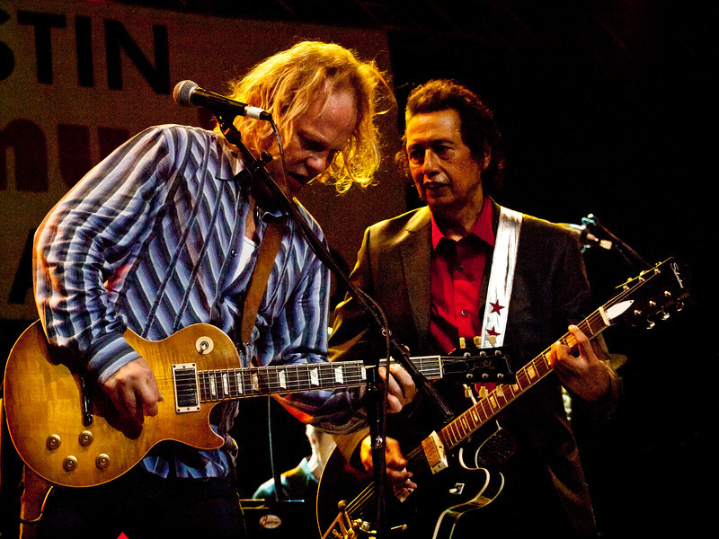 """Alejandro Escovedo and David Pulkingham<br /> Wednesday, March 14, 2012<br /> Austin Music Awards at Austin Music Hall<br /> SXSW Music Festival - 2012, Austin, Texas<br /> Photos by Sean Murphy ©2012.<br /> Please do not use without permission.<br /> You can find more Alejandro at: <a href=""""http://alejandroescovedo.com/"""">http://alejandroescovedo.com/</a>"""