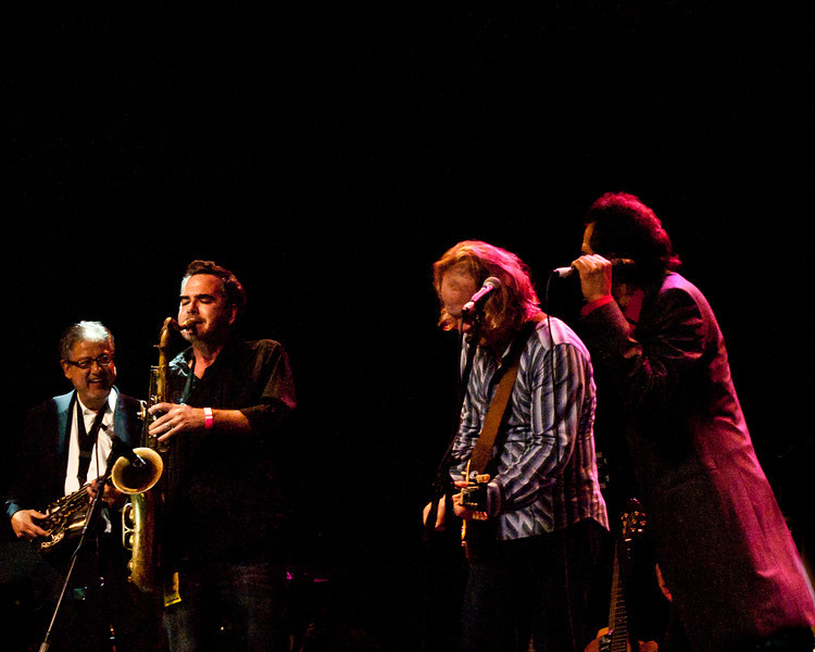 """Alejandro Escovedo, David Pulkingham, Elias Haslanger and (?) Alto Sax Player<br /> Wednesday, March 14, 2012<br /> Austin Music Awards at Austin Music Hall<br /> SXSW Music Festival - 2012, Austin, Texas<br /> Photos by Sean Murphy ©2012.<br /> Please do not use without permission.<br /> You can find more Alejandro at: <a href=""""http://alejandroescovedo.com/"""">http://alejandroescovedo.com/</a>"""