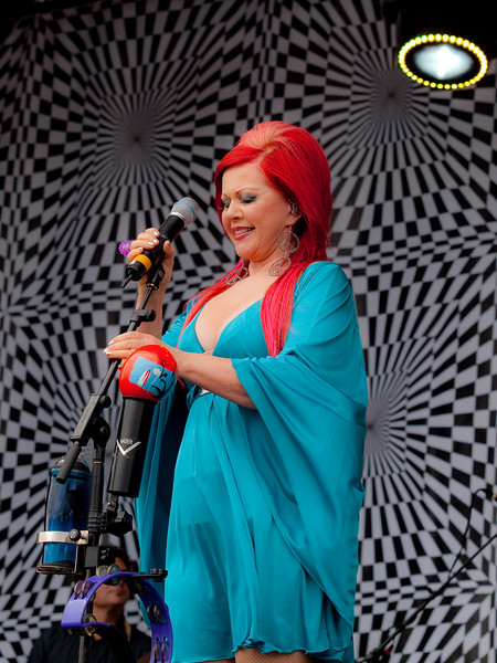 Kate Pierson of The B-52s<br /> AMD (West) Stage<br /> Sunday, October 04, 2009, 2:00 - 3:00 PM<br /> Photos Courtesy of Sean Murphy © 2009