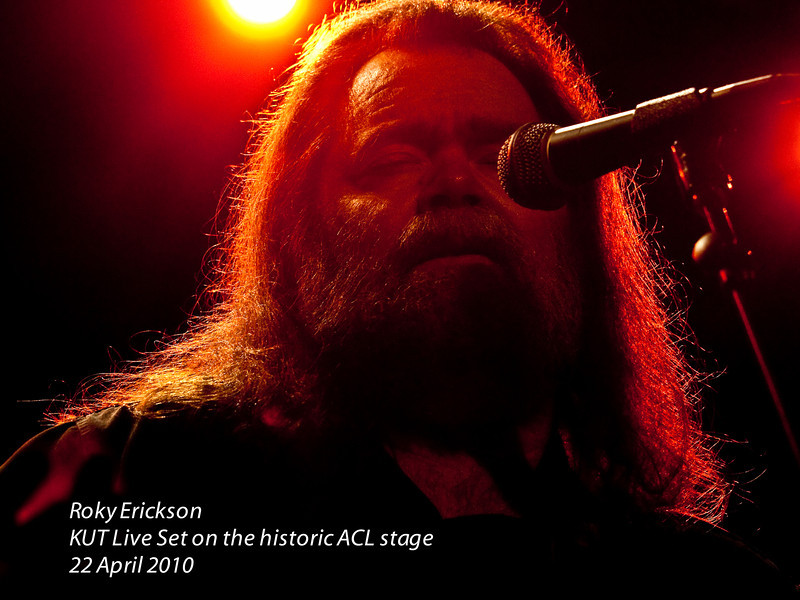 Roky Erickson<br /> KUT Live Set 24 April, 2010<br /> on the historic ACL stage<br /> Austin, Texas<br /> Photos Courtesy of Sean Murphy © 2010