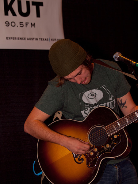 Bobby Long played an early set at KUT-FM's Hilton Showcase during SXSW 2011 on March 18, 2011.