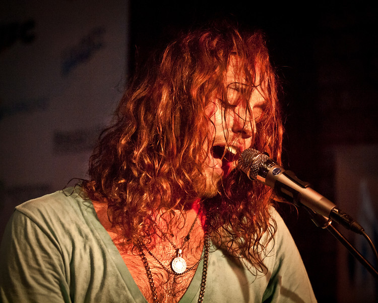 A.J. Vincent belts it out during the Bright Light Social Hour at Momo's during SXSW 2011.