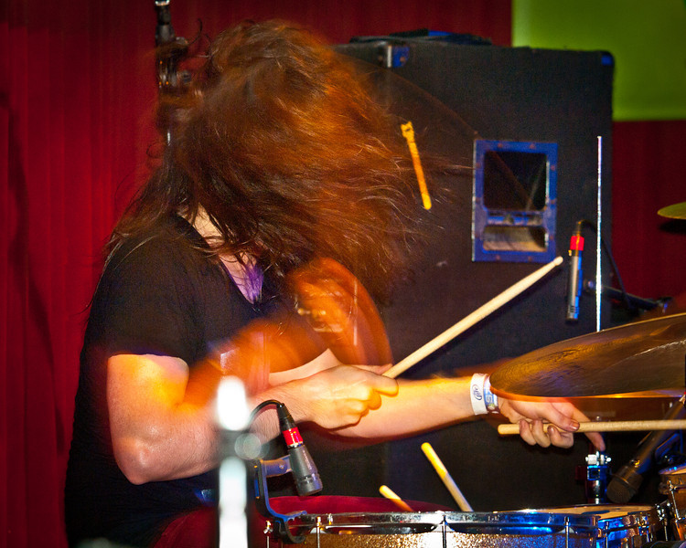 Joseph Mirasole, drum solo during the Bright Light Social Hour at Momo's during SXSW 2011.
