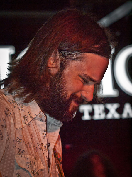 Curtis Roush wails during the Bright Light Social Hour at Momo's during SXSW 2011.