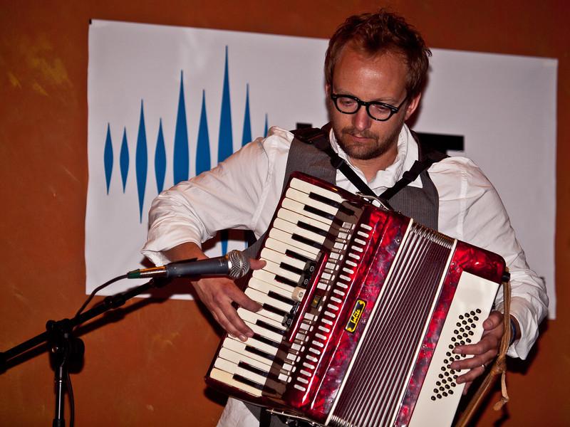 Jared Hall, accordian.
