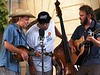Tyler Balthrop on mandolin, Brad Degge on the bass and Todd Michael on guitar - Cooper's Uncle, Old Time Fiddlin' Fair, Georgetown, Texas, 25Sept04