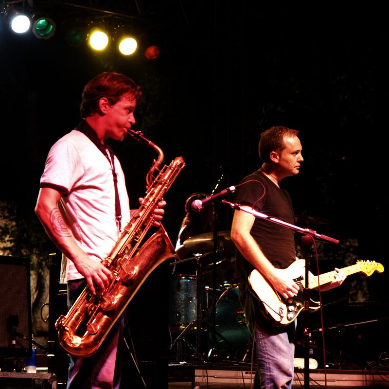 Garza's band members live at the 2004 Austin City Limits Festival, Sunday, September 19, 2004.