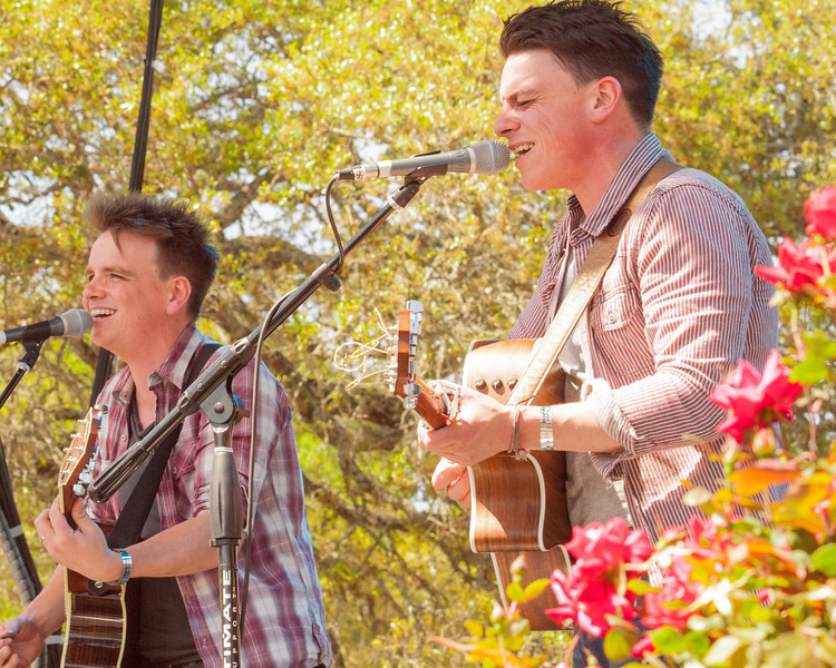 David and Joseph Dunwell <br /> singing and playing at<br /> The Old Settler's Music Festival<br /> Driftwood, Texas 78619<br /> April 20, 2013.<br /> Photo by Sean Murphy©2013.<br /> Please do not reproduce without permission.