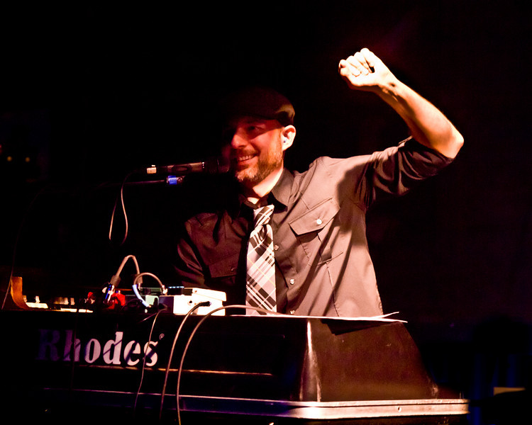 Eddy Hobizal at the keyboards, CD release party at Antones, March 4, 2011.