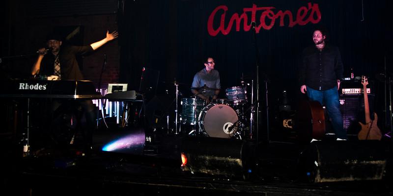 Eddy acknowledges bandmates David Hobizal, drums, and Ryan Bowman, bass.