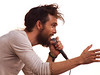 Alex Ebert, lead singer and frontman of the Band:<br /> Edward Sharpe and the Magnetic Zeros<br /> engages the crowd from the Zync Card Stage<br /> Austin City Limits Music Festial 2010<br /> Sunday, October 10, 2010 (that's 10/10/10)<br /> Photo by Sean Murphy ©2010.<br /> Please do not reproduce without permission.