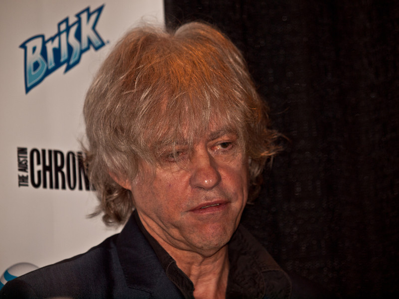 """Bob Geldof responds to questions at the press room, SXSW 2011, © Sean Murphy, 2011.  Bob gave a memorable keynote speech on Thursday, March 19, which can be seen here:  <a href=""""http://sxsw.com/node/7271"""">http://sxsw.com/node/7271</a><br /> <br /> Bob Geldof (born 5 October 1951), is an Irish singer, songwriter, author, occasional actor and political activist. He rose to prominence as the lead singer of the Irish rock band The Boomtown Rats in the late 1970s and early 1980s alongside the punk rock movement."""
