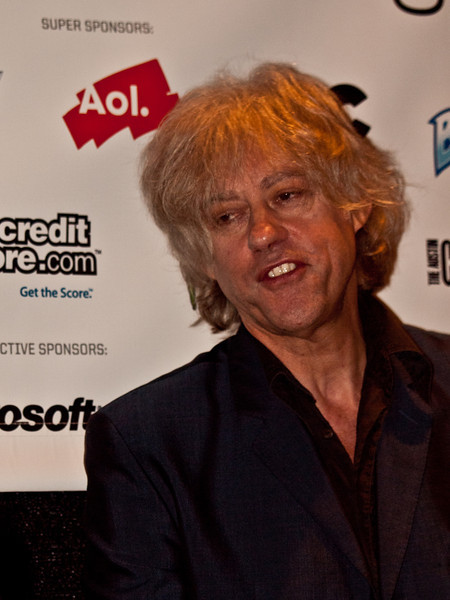 "Bob Geldof responds to questions at the press room, SXSW 2011, © Sean Murphy, 2011.  Bob gave a memorable keynote speech on Thursday, March 19, which can be seen here:  <a href=""http://sxsw.com/node/7271"">http://sxsw.com/node/7271</a><br /> <br /> Bob Geldof (born 5 October 1951), is an Irish singer, songwriter, author, occasional actor and political activist. He rose to prominence as the lead singer of the Irish rock band The Boomtown Rats in the late 1970s and early 1980s alongside the punk rock movement."
