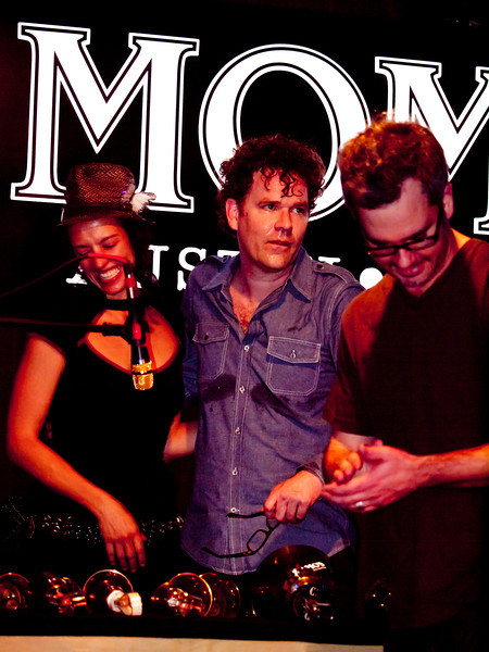 Bells collaborators celebrate with <br /> Kat Edmonson at <br /> Momo's KUT Showcase at SXSW 2010<br /> March 19, 2010<br /> Austin, Texas<br /> Photos courtesy Sean Murphy © 2010.<br /> Please do not reproduce without permission.