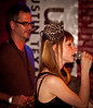 Kat Edmonson and bandmate at<br /> Momo's KUT Showcase at SXSW 2010<br /> March 19, 2010<br /> Austin, Texas<br /> Photos courtesy Sean Murphy © 2010.<br /> Please do not reproduce without permission.