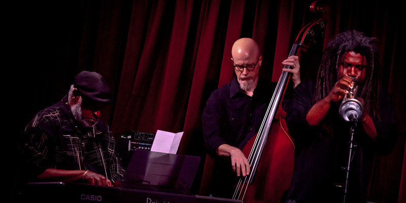 Jeff Lofton Quartet,<br /> Featuring Jeff Lofton, Trumpet, Dr. James Polk on keys, and Ed Friedland on bass.<br /> At the Cactus Cafe, University of Texas at Austin.<br /> Celebrating Jazz Appreciation Month & 5 years in Austin.<br /> Saturday, April 7, 8:30pm<br /> Images courtesy Sean Murphy © 2012.<br /> Please do not reproduce without permission.