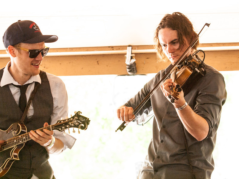 MilkDrive<br /> Dennis Ludiker – Mandolin, harmony vocals<br /> Brian Beken – Fiddle, lead vocals<br /> Campground Stage<br /> Camp Ben McCullough<br /> Old Settler's Music Festival<br /> Sunday, April 21, 2013<br /> Please do not reproduce without permission.<br /> Photos © Sean Murphy 2013.