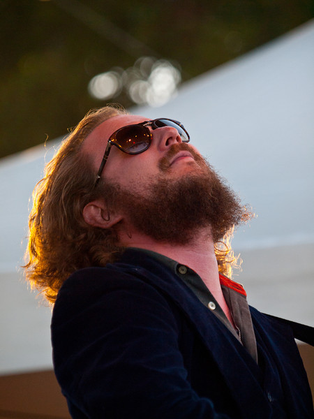 Jim James<br /> Monsters of Folk<br /> Austin Ventures Stage<br /> Austin City Limits Music Festival<br /> Saturday, October 9, 2010<br /> Photo by Sean Murphy © 2010.<br /> Please do not reproduce without permission.