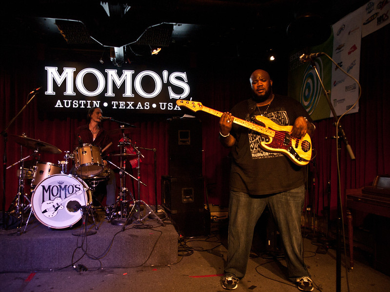 Cody Dickinson and Chris Chew<br /> North Mississippi All Stars<br /> Momo's 6th Street, Austin, Texas<br /> Friday, March 18, 2011<br /> SXSW 2011 KUT-FM Showcase<br /> Photo © Sean Murphy 2011, please do not reproduce without permission.