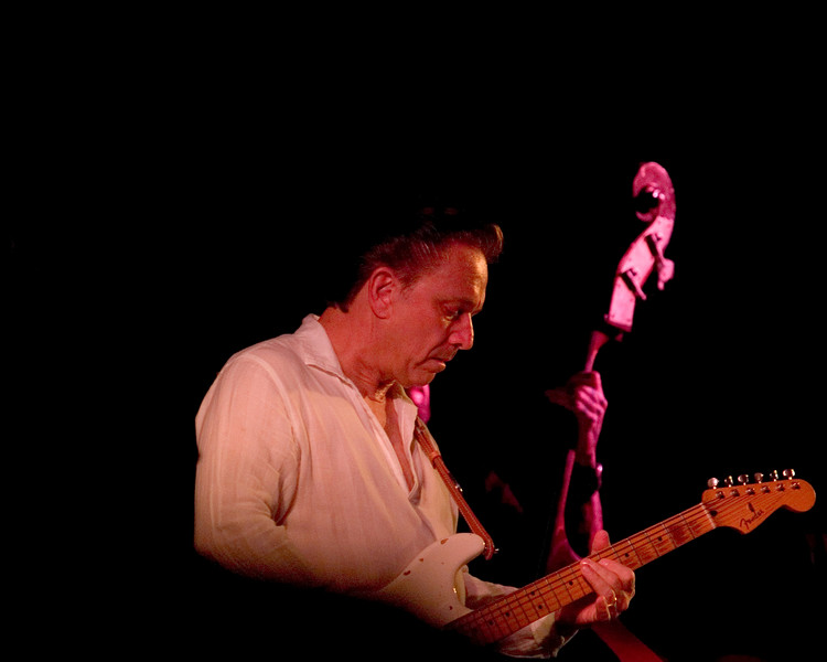 Jimmie Vaughan with Omar Kent Dykes<br /> On The Jimmy Reed Highway<br /> Blues on the Green, Austin, Texas<br /> 8 August 2007<br /> Photo © Sean Murphy 2007, please do not reproduce without permission.