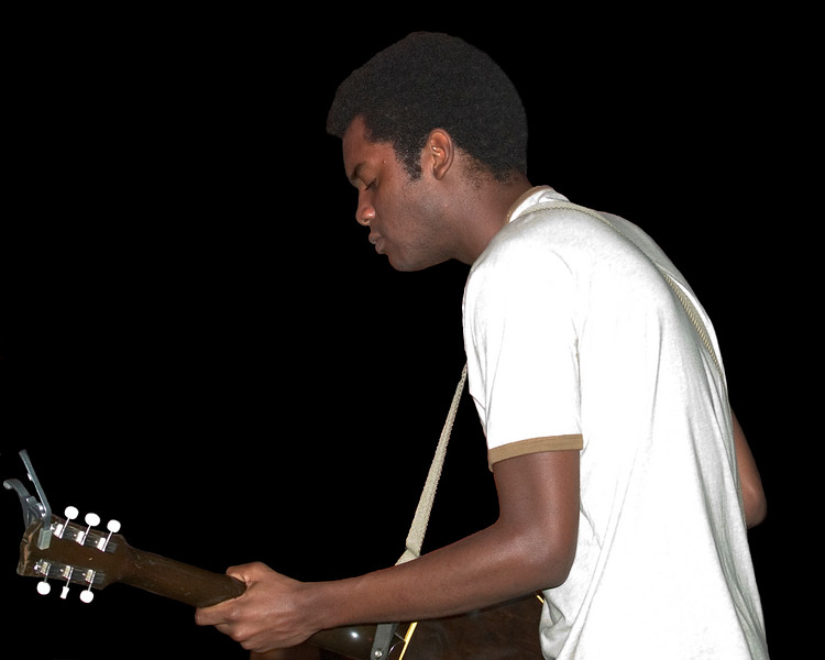 Gary Clark Jr. with Jimmie Vaughan and Omar Kent Dykes<br /> On The Jimmy Reed Highway<br /> Blues on the Green, Austin, Texas<br /> 8 August 2007<br /> Photo © Sean Murphy 2007, please do not reproduce without permission.