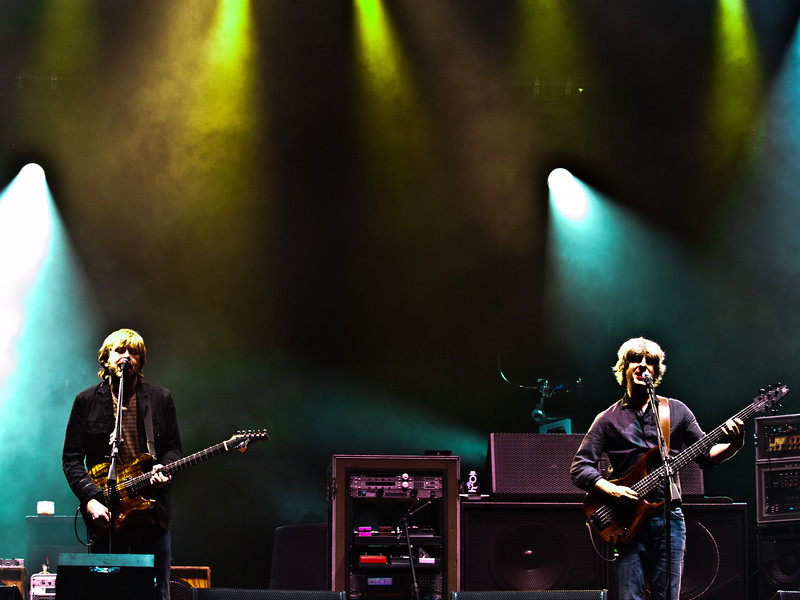 Trey and Mike<br /> Phish<br /> Austin City Limits Music Festival 2010<br /> Budweiser Stage<br /> Friday, October 8, 2010<br /> Austin, Texas<br /> Photo by Sean Murphy ©2010<br /> Please do not reproduce without permission.