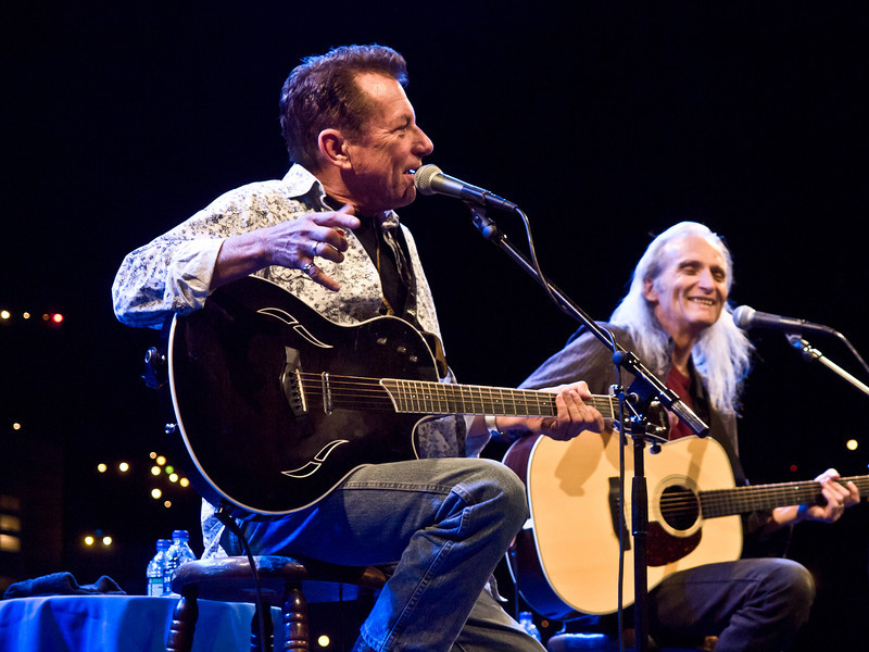 Joe Ely & Jimmie Dale Gilmore<br /> at The Flatlanders Concert<br /> at KUT Live with Jody Denberg<br /> KLRU's original ACL Studio, 6A<br /> April 29, 2011