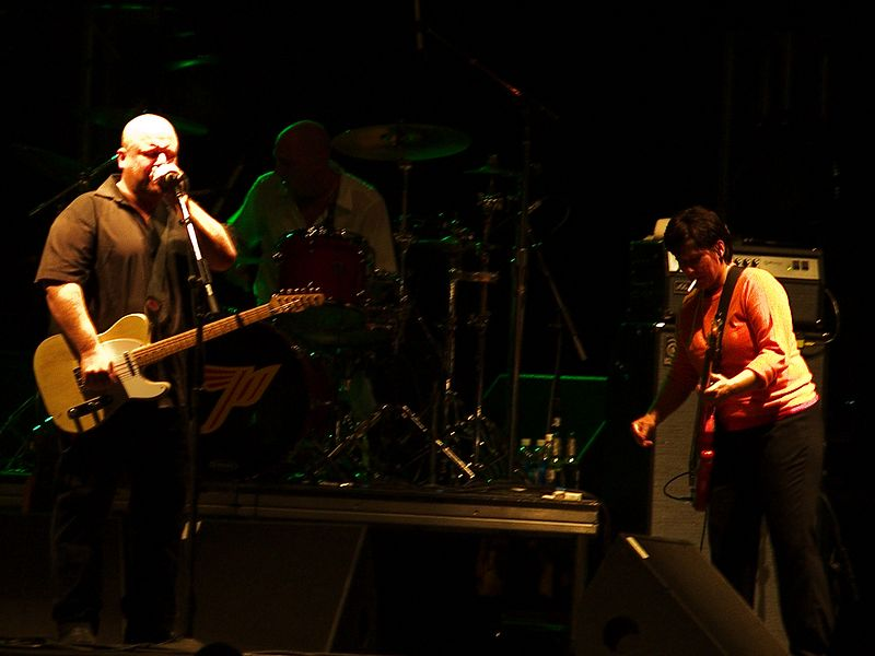 The Pixies at the Austin City Limits Festival, Saturday, 18 September 2004. Frank Black and Kim Deal.