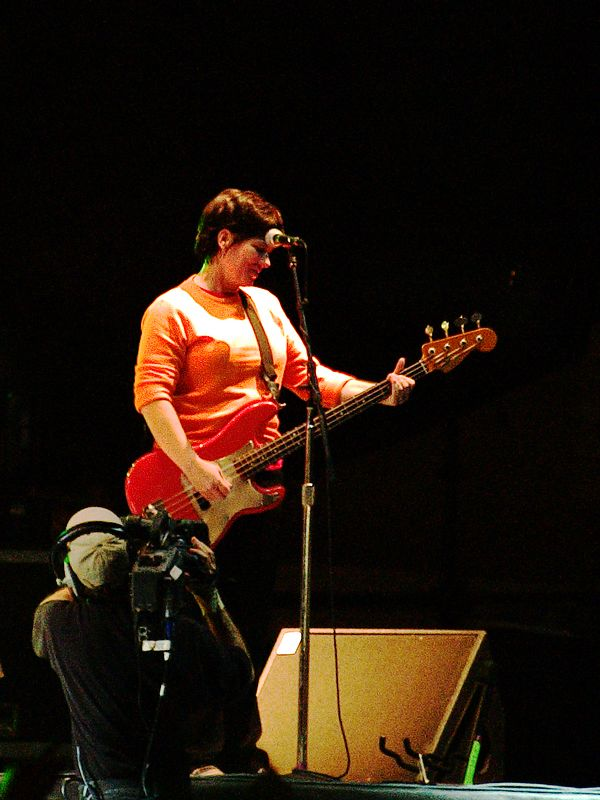 The Pixies at the Austin City Limits Festival, Saturday, 18 September 2004. Kim Deal.