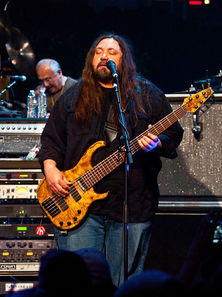 Dave Schools is the bassist for the band Widespread Panic and hails from Richmond, Virginia. In addition to playing with Panic, he has had numerous side projects with Jerry Joseph, The Stockholm Syndrome, J Mascis and the Fog, Slang, and Acetate. Schools has also played bass with Gov't Mule.  Captured at Moody Theatre on March 17, 2011 by Sean Murphy ©2011.  Please do not reproduce without permission of the photographer.