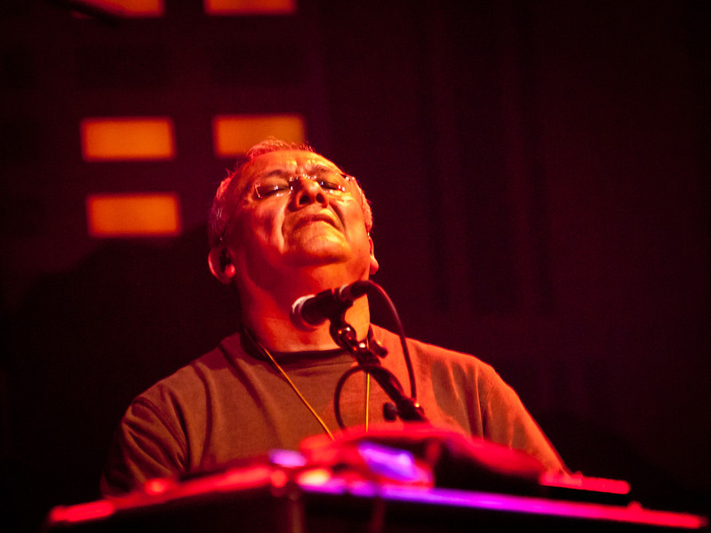 "Widespread Panic percussionist Domingo ""Sunny"" Ortiz. Captured at Moody Theatre on March 17, 2011 by Sean Murphy ©2011.  Please do not reproduce without permission of the photographer."