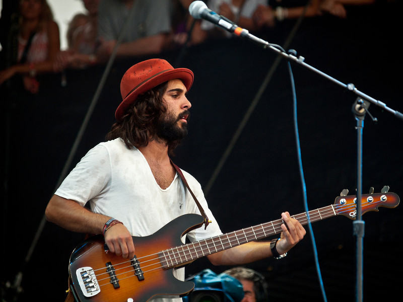 Sameer Gadhia<br /> Young the Giant<br /> AMD Stage<br /> Saturday, September 17, 2011<br /> Austin City Limits Music Festival<br /> Photos © Sean Murphy 2011.<br /> Please do not reproduce without permission.