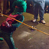 PEELANDER-GREEN playing limbo