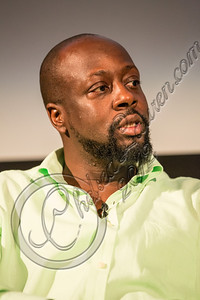 SANTA MONICA, CA - SEPTEMBER 23:  Rapper / poitician Wyclef Jean speaks at live talks Los Angeles: an evening with Wyclef Jean Aero Theatre on September 23, 2012 in Santa Monica, California.  (Photo by Chelsea Lauren/WireImage)