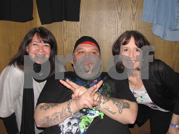 Ruth and Cindy with Popa Chubby