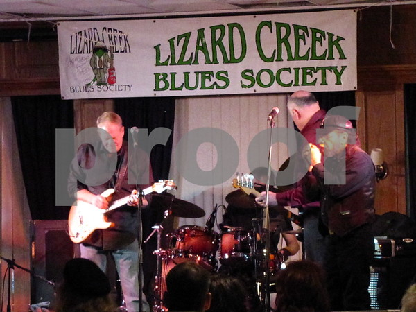 The Erick Hovey Band performing at the Lizard Creek Blues event at the Best Western Starlite in Fort Dodge.