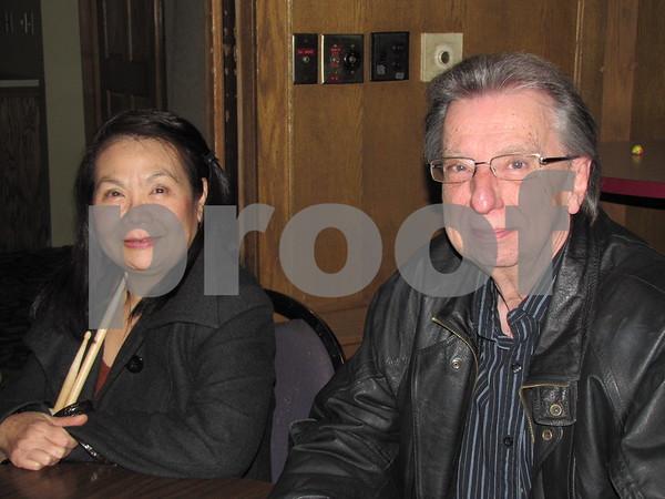 Tuyen Foreman and Dean Davis at the Lizard Creek Blues event.