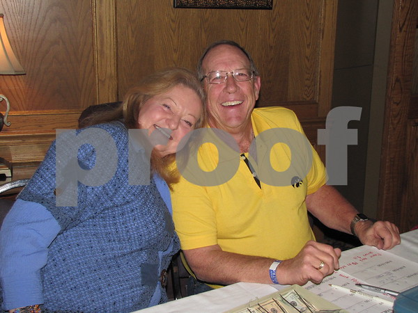 Paulette Harris and Mick Hart took tickets at the Lizard Creek Blues event at the Best Western Starlite.