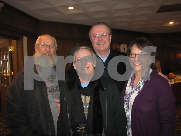 Pete Peterson, Pat Hantelman, Mike Devine, and Susan Busch attended the Lizard Creek Blues event featuring the Erick Hovey Band and Popa Chubby.