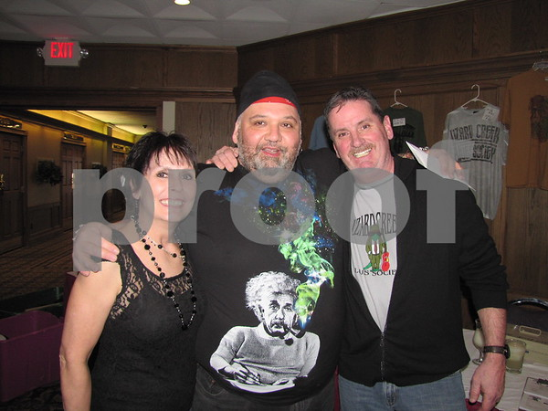 Sara and Tim O'Leary with Popa Chubby (center)